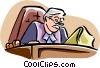 Vector Clip Art image  of a judge