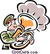 Vector Clip Art picture  of a tuba player