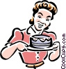 Vector Clip Art graphic  of a old-fashioned cake maker