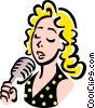 Vector Clipart graphic  of a singer
