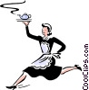 Vector Clipart picture  of a maid