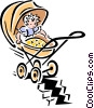 Child safety Vector Clipart illustration