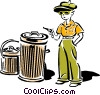 Vector Clip Art graphic  of a stickup