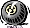 Vector Clip Art graphic  of a eight ball/pool