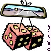 dice/rear view mirror Vector Clipart illustration