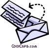 Vector Clip Art image  of a envelope with letter