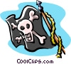 Vector Clipart graphic  of a pirate flag