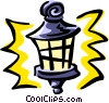 Vector Clip Art image  of a streetlamp