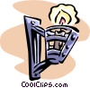 Vector Clip Art picture  of a candlelight