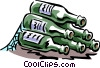 Vector Clipart graphic  of a wine bottles laying on their