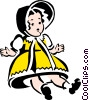 Vector Clip Art image  of a doll