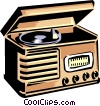 phonograph/radio Vector Clip Art picture