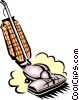 Vector Clip Art graphic  of a vacuum cleaner