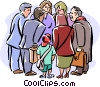 Vector Clipart illustration  of a group meeting