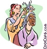Vector Clip Art graphic  of a beautician