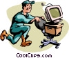 Vector Clip Art image  of a moving