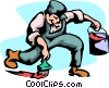 Vector Clip Art picture  of a painter