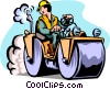 Vector Clipart picture  of a road construction worker