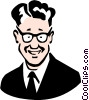 Vector Clipart graphic  of a Father wearing glasses