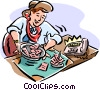 Vector Clipart graphic  of a working