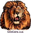 Vector Clip Art graphic  of a Roaring lion