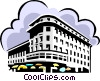 Vector Clipart illustration  of a office building