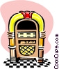 Vector Clipart picture  of a jukebox