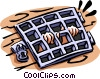 Vector Clipart graphic  of a prison