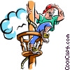 pirate ship Vector Clipart illustration