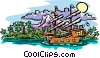 Vector Clip Art image  of a old world sailing ship