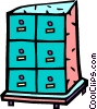 file cabinet Vector Clipart illustration
