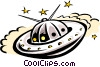Vector Clipart graphic  of a Space ship