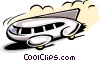 Vector Clip Art graphic  of a land vehicle