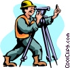 Vector Clip Art picture  of a Surveyor