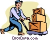 Vector Clipart graphic  of a shipping and receiving