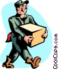 shipping and receiving Vector Clipart illustration