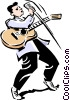 Rock n Roll musician singing Vector Clipart picture