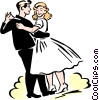 Vector Clipart graphic  of a couple dancing