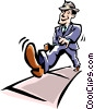 man walking Vector Clip Art picture