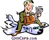 Vector Clip Art graphic  of a business transportation