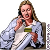 Business by phone Vector Clipart illustration