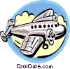 Vector Clipart illustration  of a Commercial jet