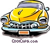 Vector Clip Art picture  of a Late model automobile