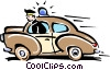 Vector Clipart image  of a police car