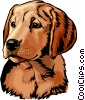 Vector Clip Art image  of a dog