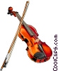 Vector Clipart image  of a violin