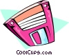 floppy disk Vector Clipart graphic
