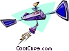 Vector Clip Art graphic  of a space satellite