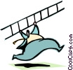 Vector Clip Art graphic  of a climbing/reaching