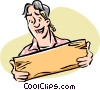 Man working with wood Vector Clipart picture